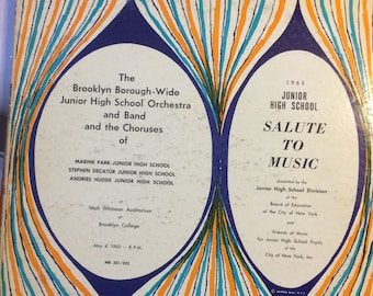 1962 Brooklyn Borough-Wide Junior High School Salute to Music Vinyl Record