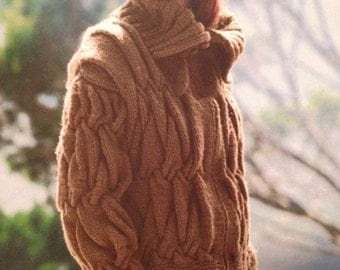 Ladies Knitted Zipped Blouson Jacket Knitting Pattern