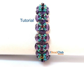 Right Angle Weave Tutorial - Beaded Bracelet Pattern - Beading Pattern and Tutorial - Beadweaving Tutorial - Beadwork PDF - Dewdrop Bracelet