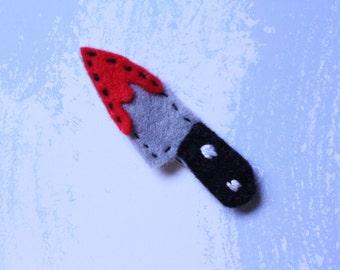 Tiny knife pin