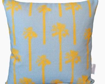 Sun and Sky Palm Tree Print Cushion