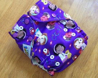 Girl Doctors One Size Pocket Cloth Diaper - Nappy