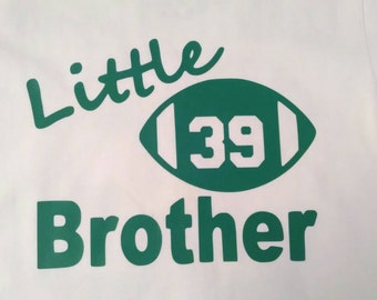 Little Brother Football tee/onesie