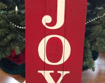 Joy Christmas Pallet Sign