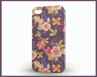 Various flowers iPhone5, Floral iPhone5 case, Dark soft iPhone 5 case, Flowers ornamented iPhone 5S case, Floral iPhone SE case