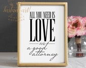 All you need is love & a good attorney PRINTABLE art lawyer gift lawyer art gifts for attorneys law student gift valentines day decor