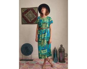 Vintage 1990's midi dress. Size: UK 14-16