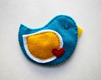 Love Bird Handmade Crinkle Baby Toy