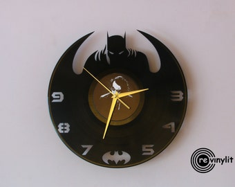 Batman clock, Wall clock,Batman, Dark Knight, vinyl record clock, vinyl clock