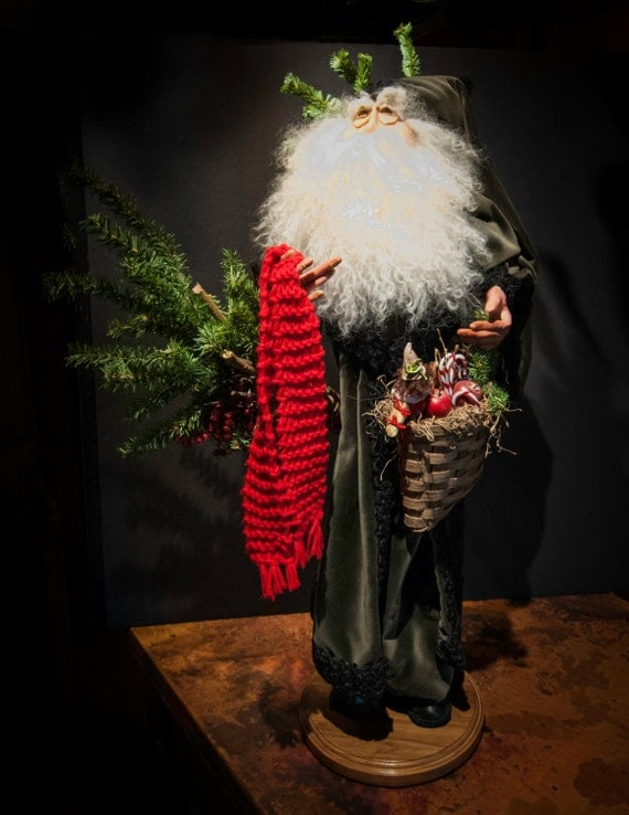 One of a Kind RARE Very Collectable Heirloom Vintage Handmade Father Christmas