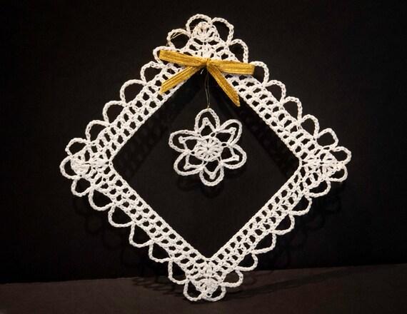 Vintage Handmade Crocheted Christmas Ornament #1