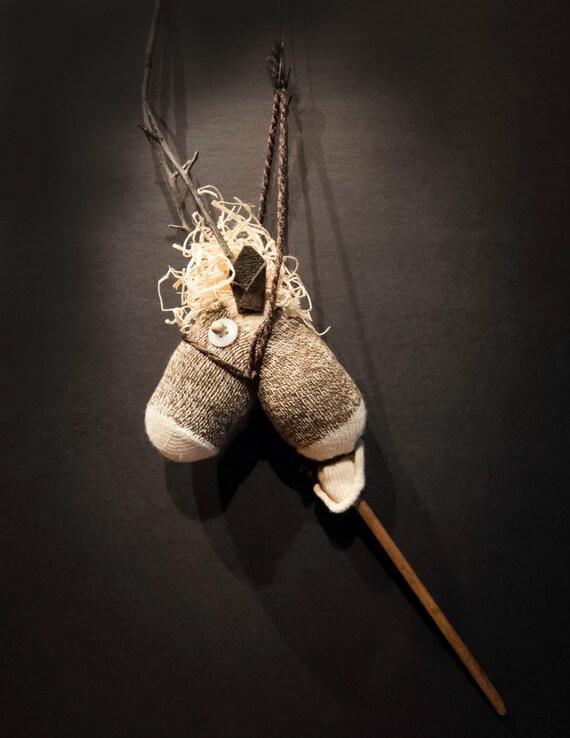 Primitive Sock Reindeer Ornament
