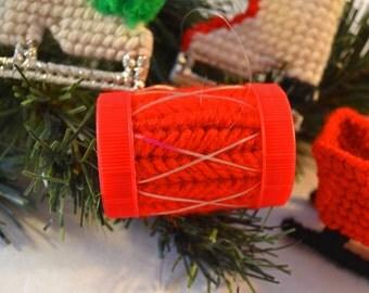 Plastic Canvas Ornament Set of 4 (Set 2)