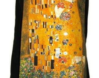 Gustav Klimt long wrap skirt