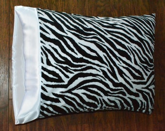 Animal Print, Zebra print, Minky Pillowcase.