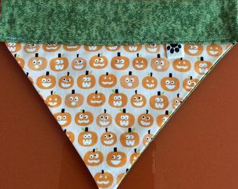 Halloween Glow in the dark Pumpkin Dog Bandana by WoofThreads