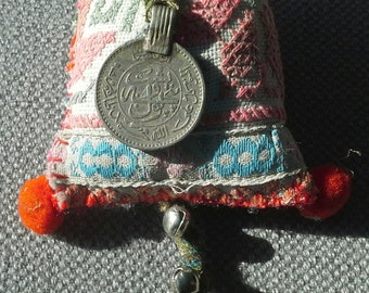 Necklace/pendant textile, Bohemian spirit.  Creating unique and original.
