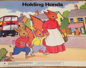 ROSPA Tufty Club Holding Hands Road Safety Poster