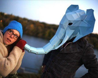 Paper Elephant Head Mask