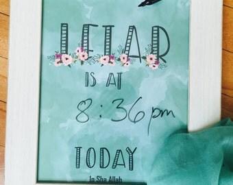 Ramadan decoration, Cucumber Iftar print, Green watercolor print, Ramadan gift, Islamic gifts,  watercolor, water color, water colour