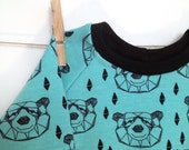Jumper bears turquoise baby clothes hipster baby organic baby clothes cool sweatshirt Andrea Lauren baby boy baby girl