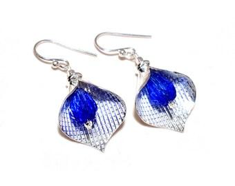 Swiss Blue Quartz Faceted Stone 92.5 Sterling Silver New Handmade Earrings