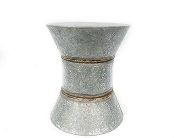 Hourglass Shape Metal Stool, India