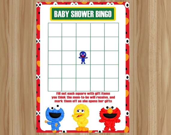 street baby shower game sesame street baby shower sesame street baby