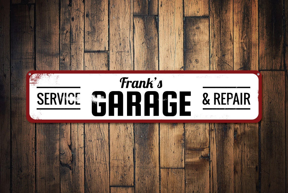 Personalized Garage Signs : Garage service repair sign personalized mechanic name