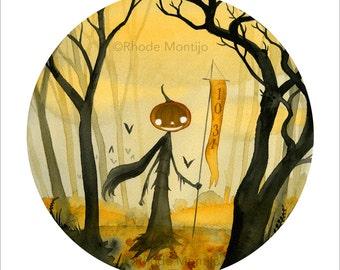 "1031- 12"" x 18"" Signed Halloween Art Print by Rhode Montijo"