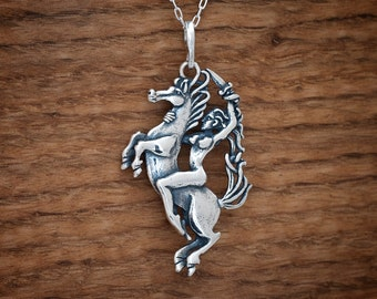 Epona Horse My ORIGINAL Pendant  - STERLING SILVER- Chain Optional