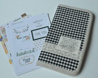 Hand-made natural cotton wallet