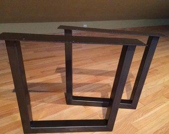 15 19 Tapered Steel Tube Table Legs Custom Table Legs Vintage Table