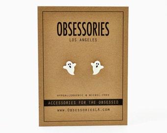 Ghost Earrings Boo Halloween Earring Halloween Stud Earring Post Ghost Jewelry Halloween Jewelry Halloween Accessories Spooky Halloween Gift