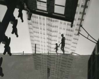 We are together even the world turns upside down. Silver gelatin darkroom print