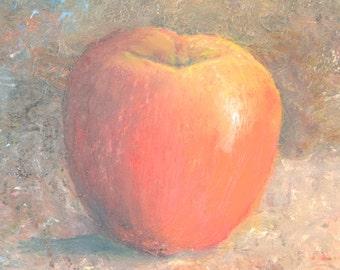 Still life painting of apple