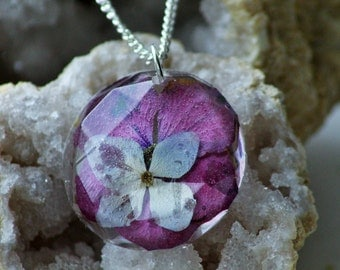 FLORAL NECKLACE - Transparent Resin Jewelry With Real Flowers