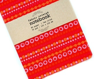 Pop Dots Fabric Covered Notebooks