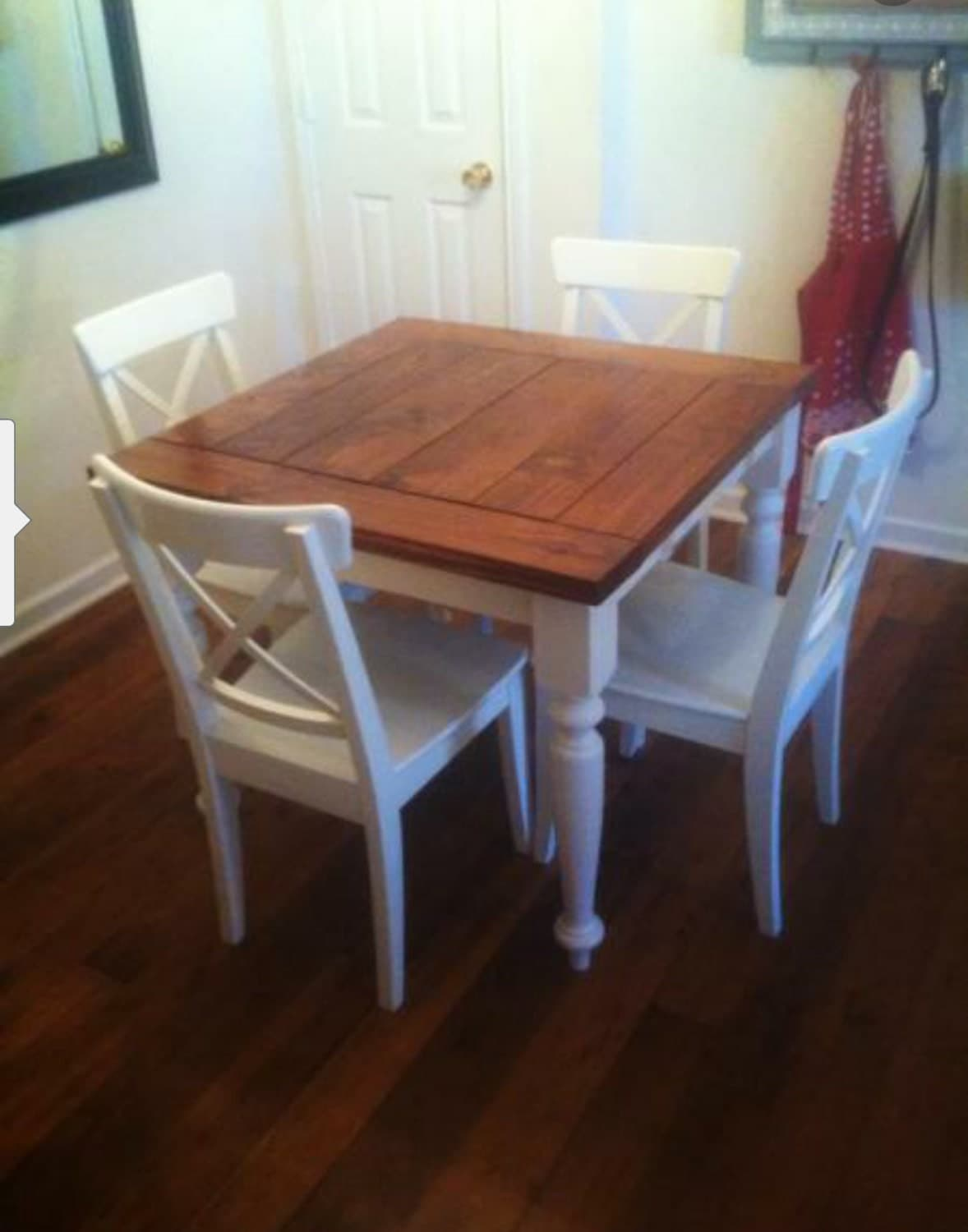 Square Farmhouse table by ForetheLoveofWoodLLC on Etsy
