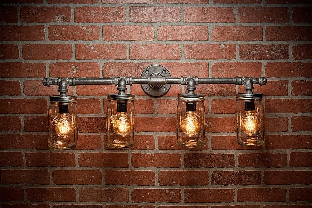 Mason Jar Lights Industrial Light Edison Bulb Rustic