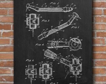 Dental Drill Patent Print, Dental Drill Poster, Dentist Gift, Dental Decor, Patent Print - DA0457
