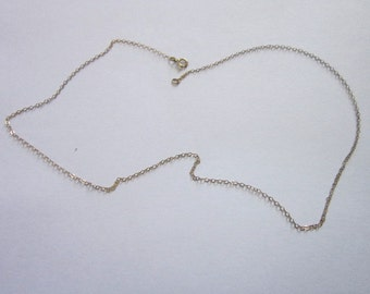 """Vintage 18"""" Sterling Silver with Gold Wash Chain Necklace"""