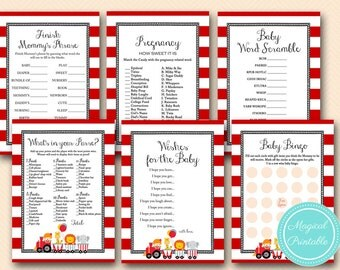 Baby Name Race, ABC Baby Name Game, Carnival Baby Shower, Circus Baby Shower