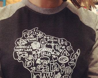 All things Wisconsin Baseball t-shirt