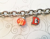 Denver Broncos Women's Gold-Tone Charm Bracelet