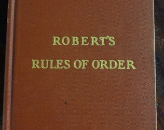 1904 Robert's Rules of Order Pocket Manual for Deliberative Assemblies by General Henry M. Robert