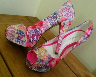 Sun cream inspired customised shoes