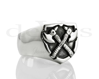 "Signet ""Axe"" Ring"