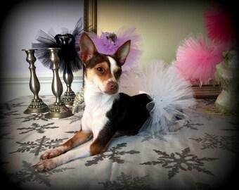 Dog Tutu, White Dog Tutu, Dog Wedding Tutu, Puppy Tutu, Dog Clothes, Dog Flower Girl Tutu, Dog Costume, Dog Skirt, Puppy Skirt, Pet Tutu