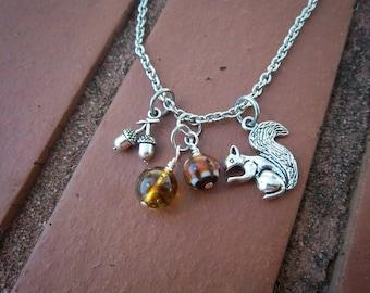Squirrel & Acorn Necklace